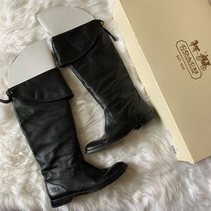 Coach Cheyenne Soft Leather Riding Boots 7.5 $298